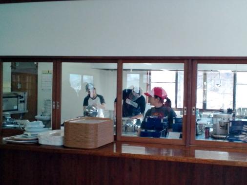 野麦峠スキー場の新しいレストラン