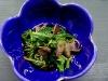 アミ茸と青菜の酢の物