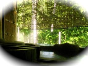 温泉宿山荘わたり_露天風呂からの夏の景色